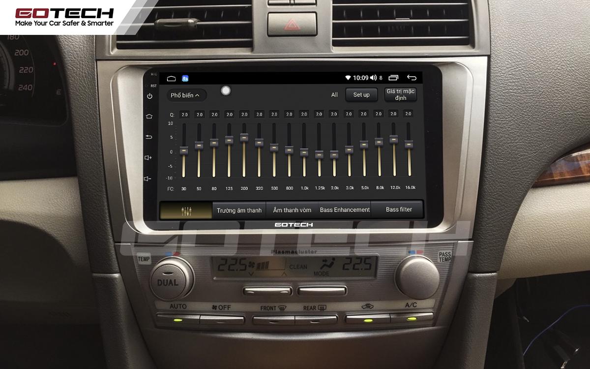 Bộ xử lý tín hiệu âm thanh DSP 32 kênh trên màn hình GOTECH cho xe Toyota Camry 2007-2012