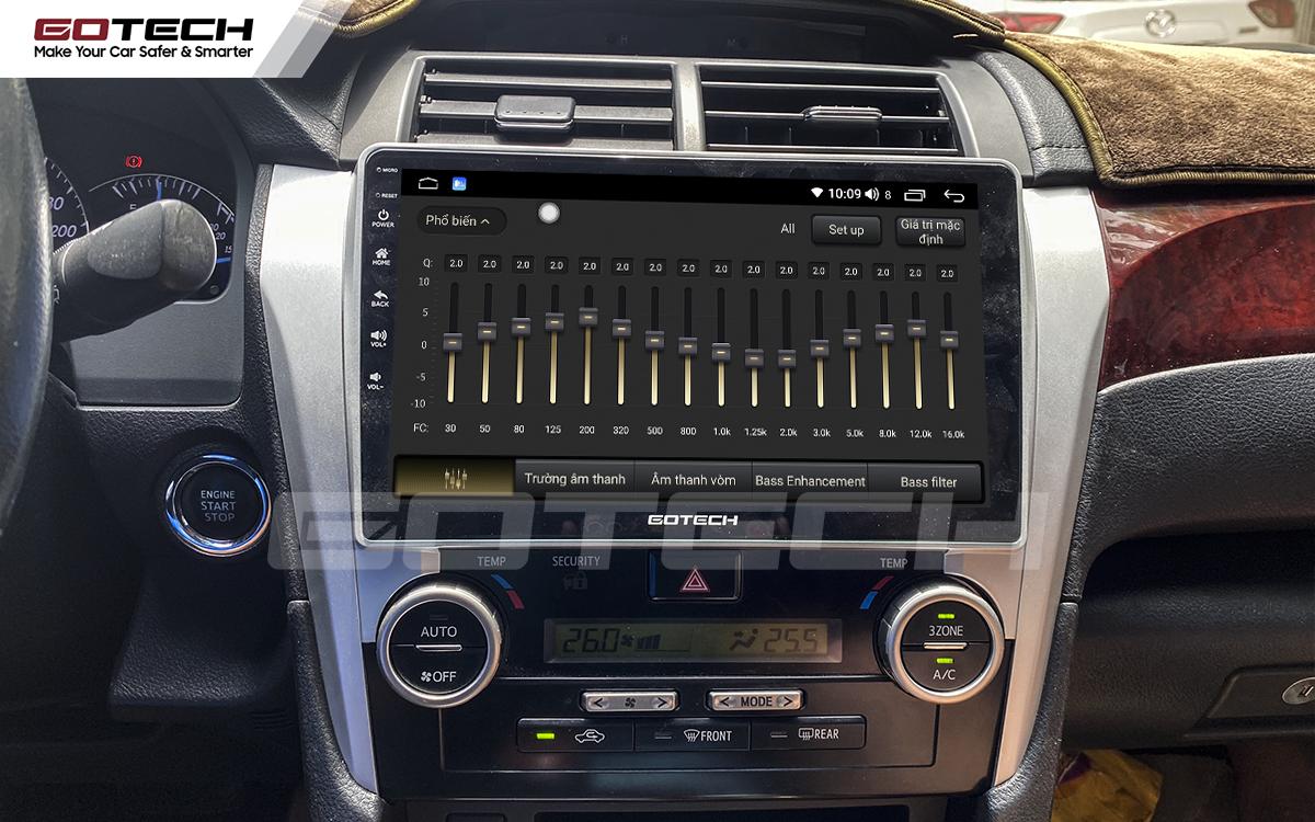 Bộ xử lý tín hiệu âm thanh DSP 32 kênh trên màn hình GOTECH cho xe Toyota Camry 2013-2014