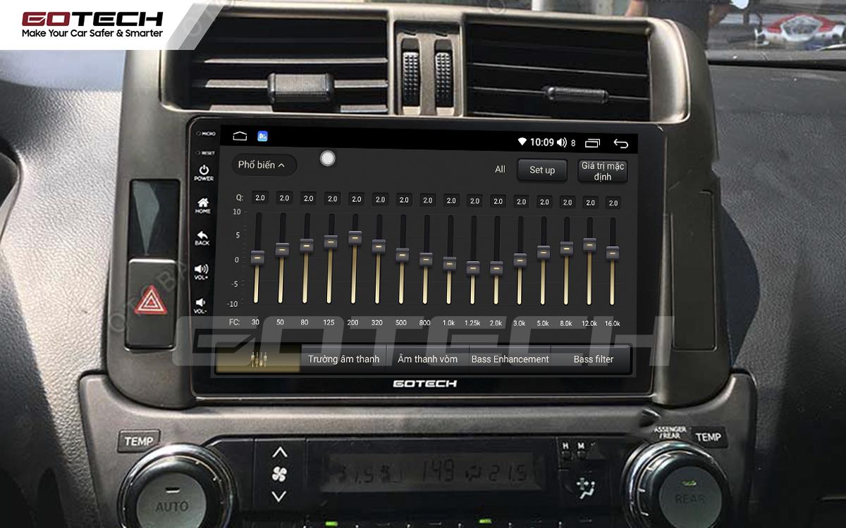 Bộ xử lý tín hiệu âm thanh DSP 32 kênh trên màn hình GOTECH cho xe Toyota Prado 2010-2013