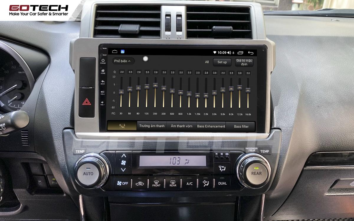 Bộ xử lý tín hiệu âm thanh DSP 32 kênh trên màn hình GOTECH cho xe Toyota Prado 2014-2016