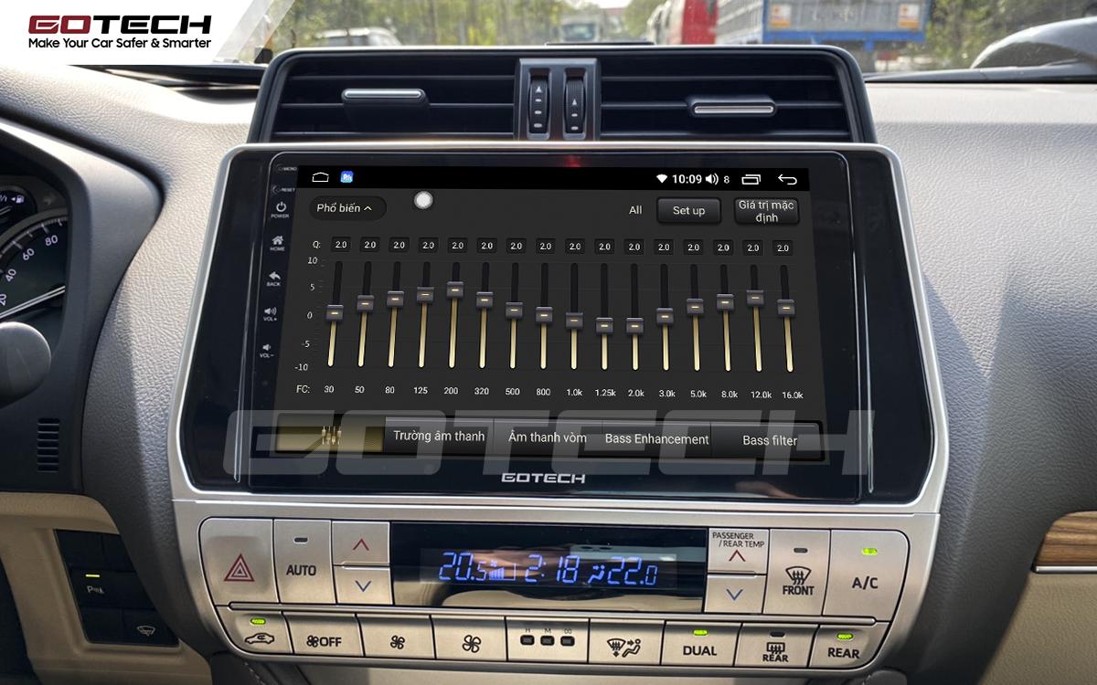 Bộ xử lý tín hiệu âm thanh DSP 32 kênh trên màn hình GOTECH cho xe Toyota Prado 2017-2020