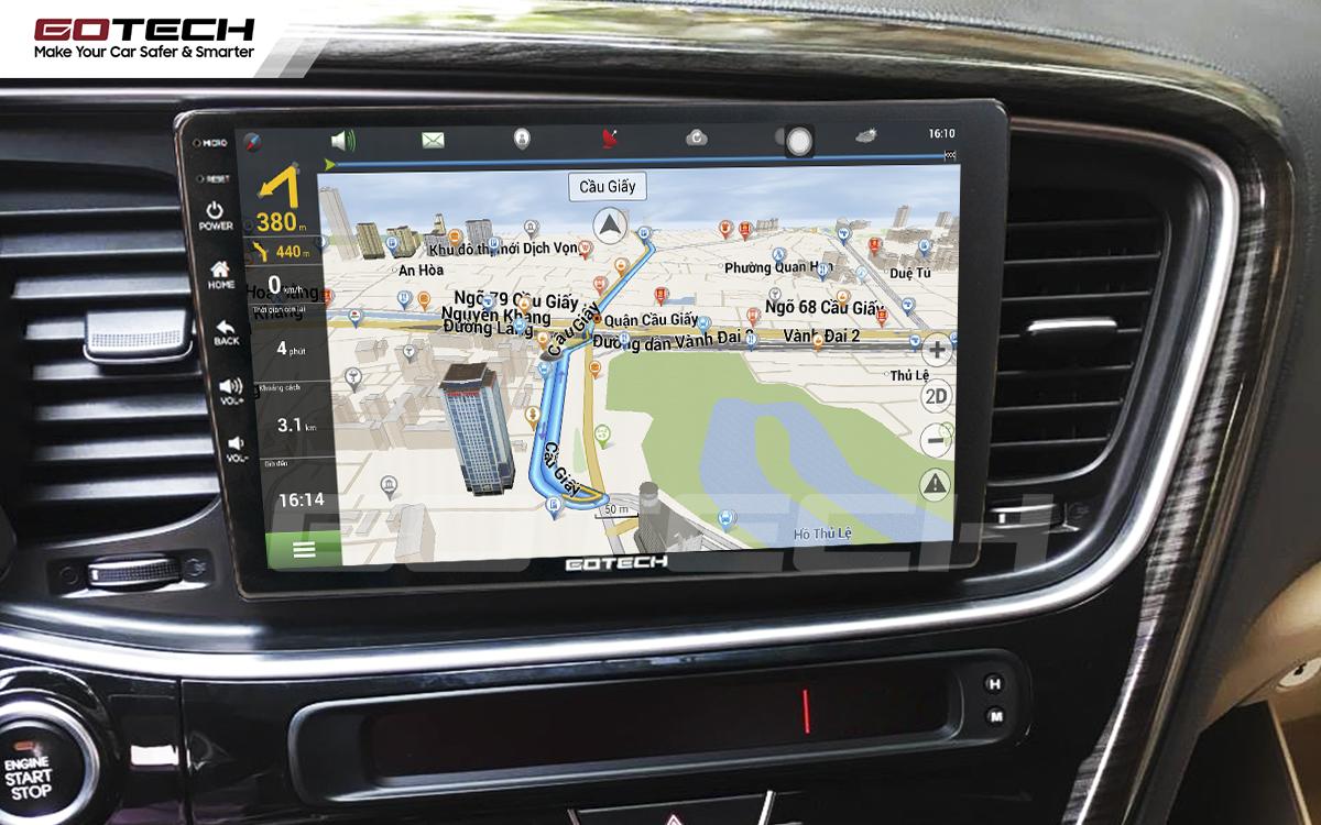 Màn hình ô tô GOTECH tích hợp những phần mềm chỉ đường thông minh nhất hiện nay