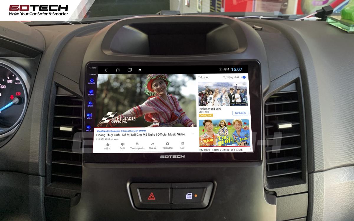 Màn hình ô tô thông minh GOTECH cho xe Ford Ranger XLS, XLT 2013-2018