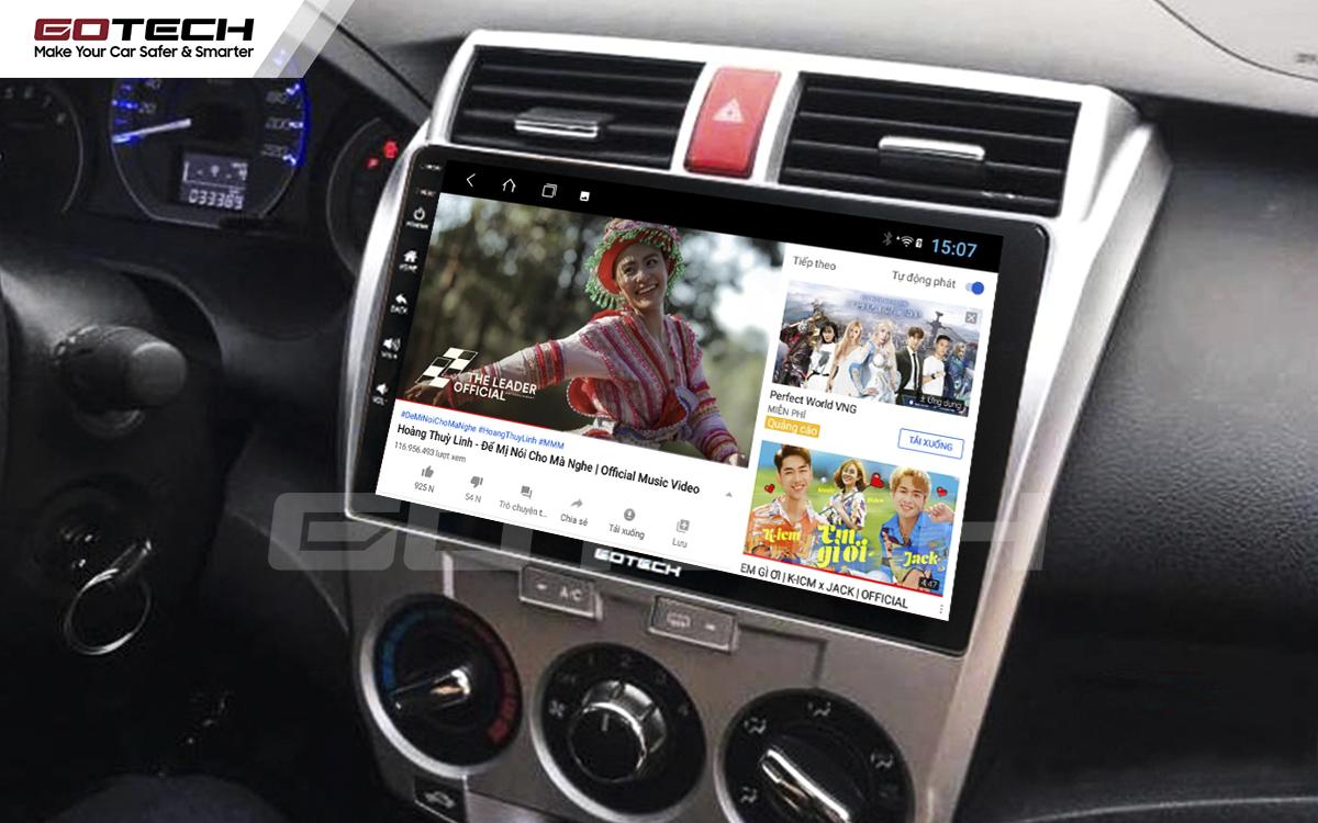 Các ứng dụng giải trí vô tận trên màn hình Android ô tô GOTECH cho xe Honda City