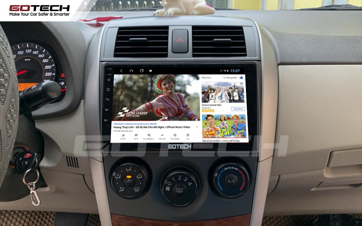 Thế giới giải trí vô tận trên màn hình GOTECH cho xe Altis 2008 - 2013