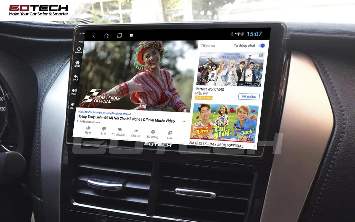 Các ứng dụng giải trí vô tận trên màn hình GOTECH cho xe Vios E 2019 - 2020
