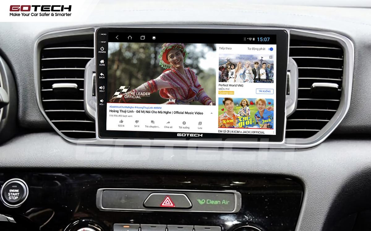 Các ứng dụng giải trí vô tận trên màn hình ô tô thông minh GOTECH