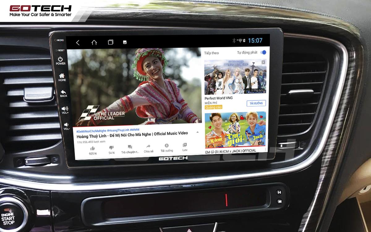 Thế giới giải trí vô tận trên màn hình ô tô GOTECH cho xe Kia K5 Optima