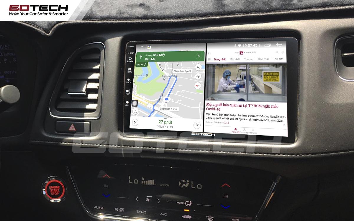 Màn hình ô tô thông minh GOTECH chạy đa nhiệm ứng dụng mượt mà
