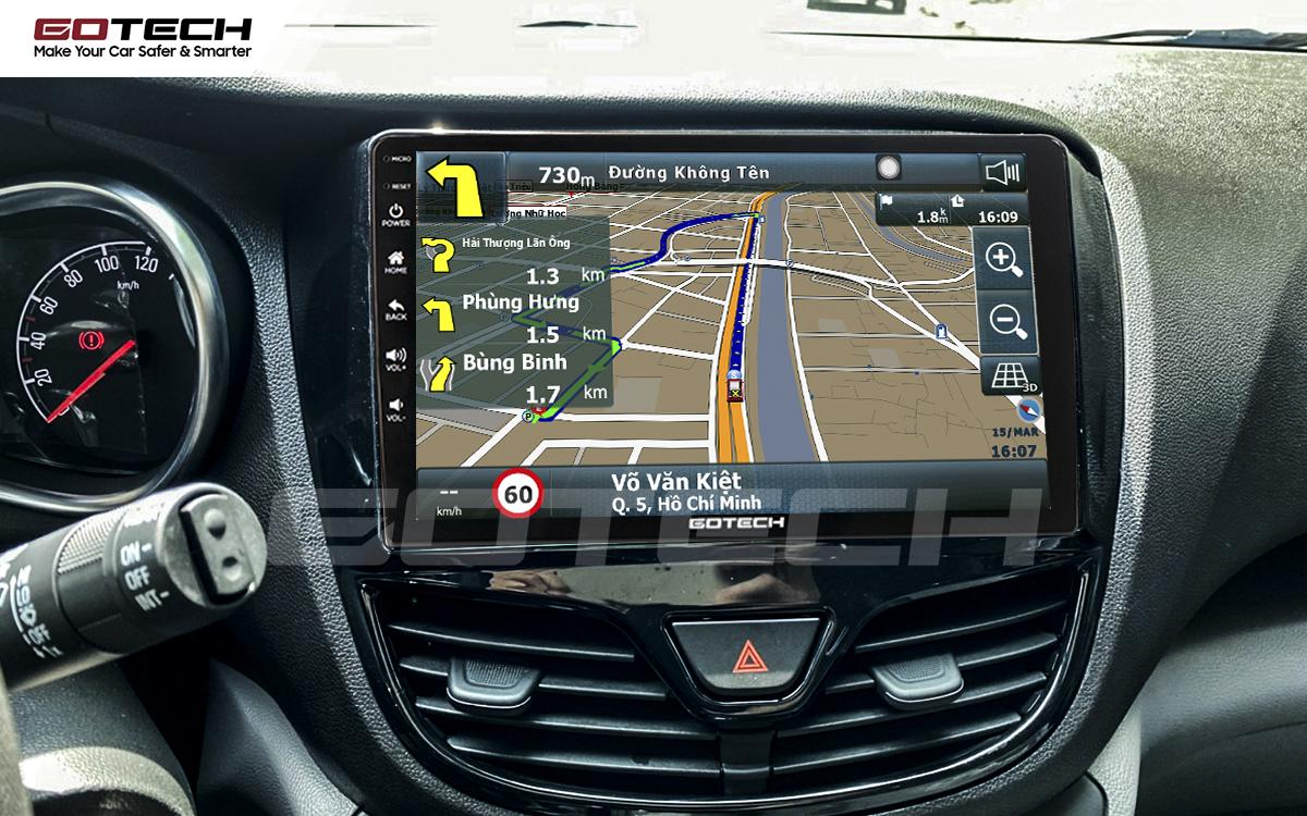 Màn hình ô tô GOTECH cho xe Vinfast Fadil tích hợp các ứng dụng chỉ đường thông minh