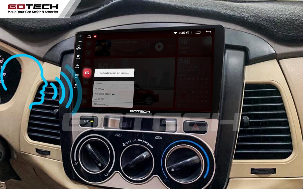 Điều khiển giọng nói qua vô lăng trên màn hình ô tô Gotech cho xe Toyota Innova 2006-2011