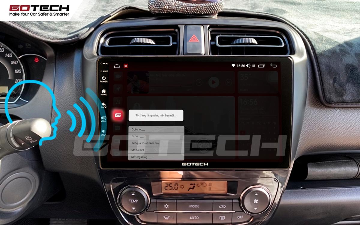 Điều khiển giọng nói trên màn hình Andoroid Gotech hỗ trợ mở tác vụ rảnh tay.