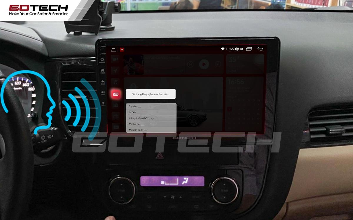 Điều khiển giọng nói qua vô lăng trên màn hình ô tô Gotech.