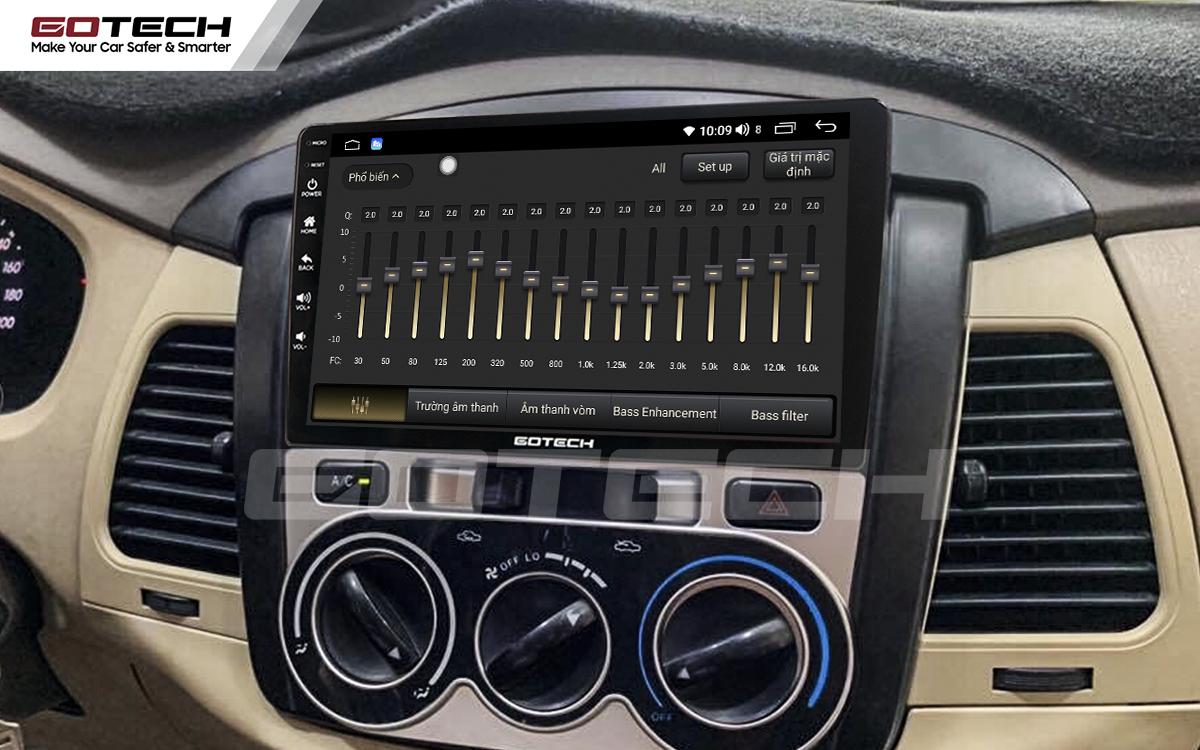 DSP 32 kênh trên màn hình android ô tô Gotech cho xe Toyota Innova 2006-2011.