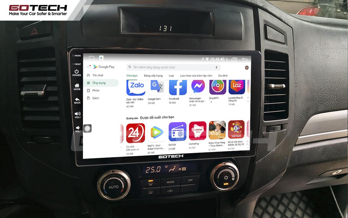 Màn hình ô tô thông minh Gotech sở hữu kho giải trí đa phương tiện.