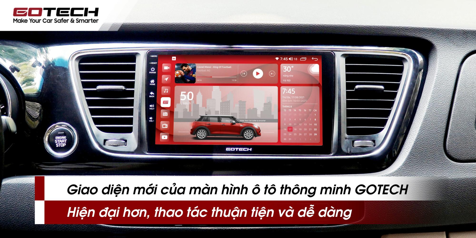 giao diện màn hình ô tô Gotech