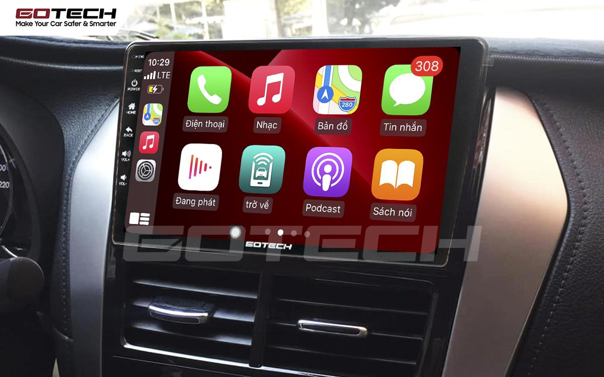 Kết nối Apple Carplay trên màn hình DVD Android GOTECH cho xe Vios E 2019 - 2020
