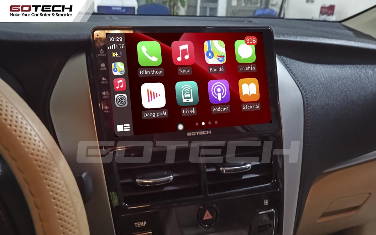 Kết nối điện thoại nghe gọi rảnh tay trên màn hình ô tô GOTECH cho xe Vios G 2019 - 2020