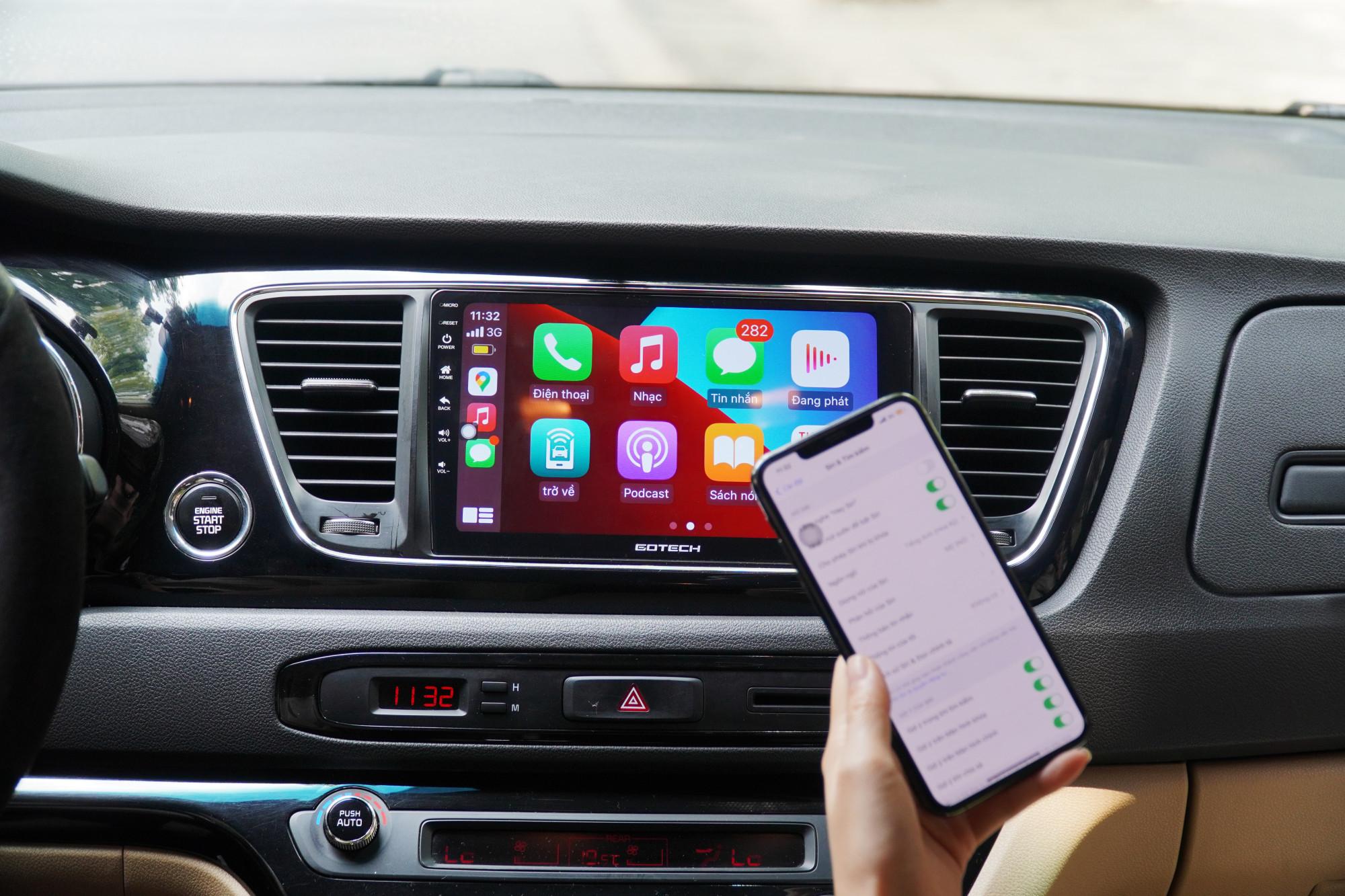 Kết nối Apple Carplay trên màn hình ô tô thông minh