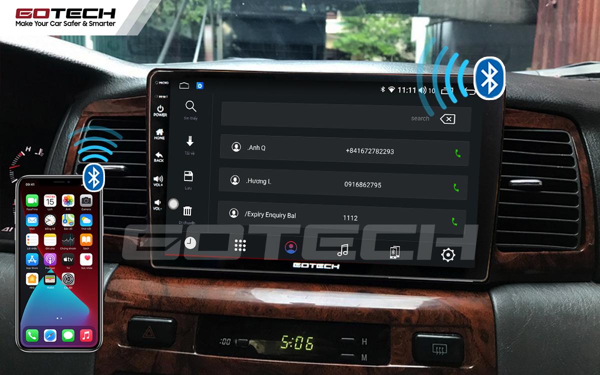 Kết nối Bluetooth trên màn hình Android GOTECH cho xe Toyota Altis