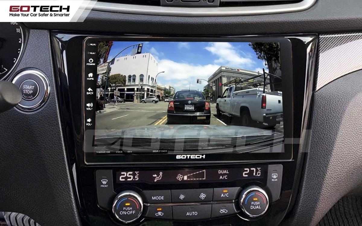 Kết nối với camera hành trình trên màn hình android GOTECH cho xe Nissan Xtrail 2016-2020