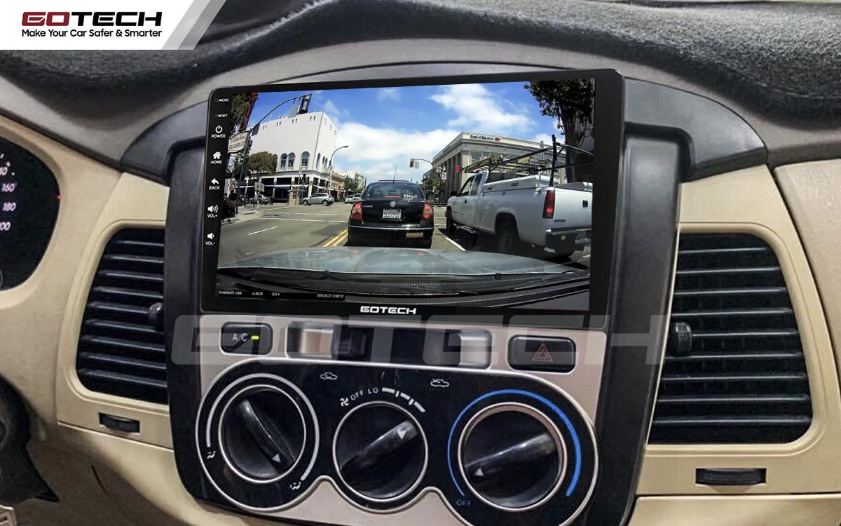 Xem camera hành trình trên đầu dvd ô tô Gotech cho xe Toyota Innova 2006-2011.