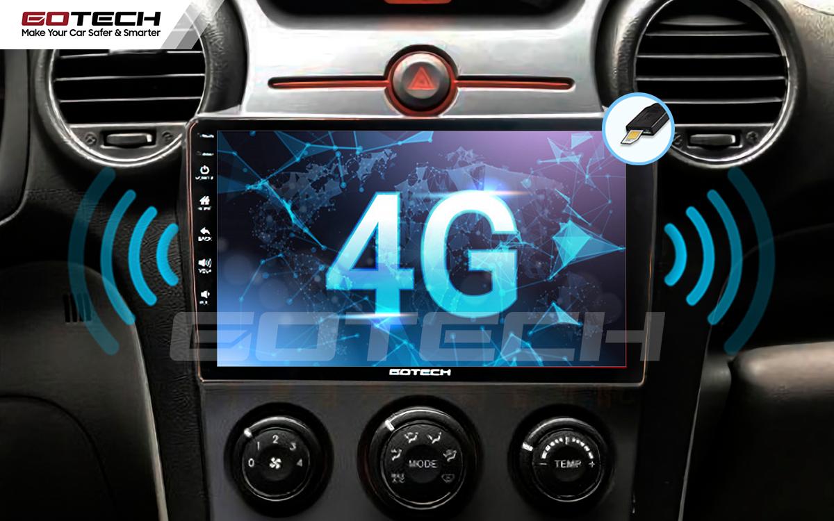 Màn hình ô tô GOTECH kết nối internet 4G