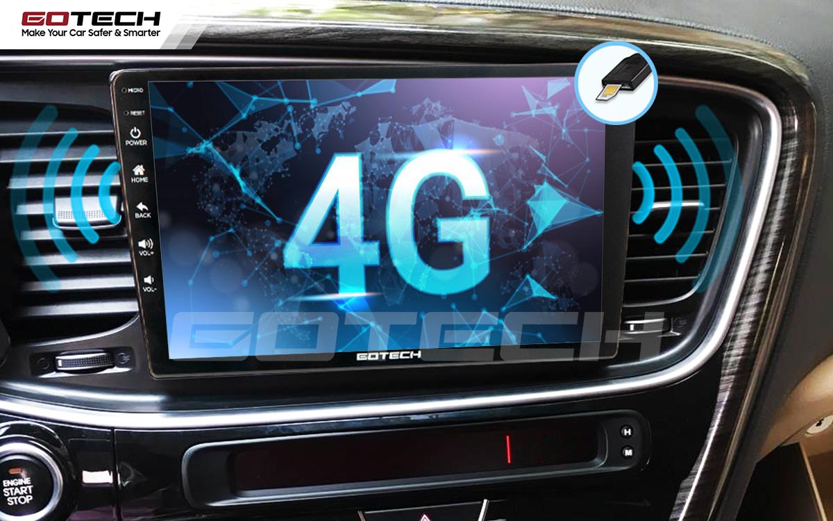 Kết nối internet 4G tốc độ cao trực tiếp từ màn hình ô tô thông minh GOTECH