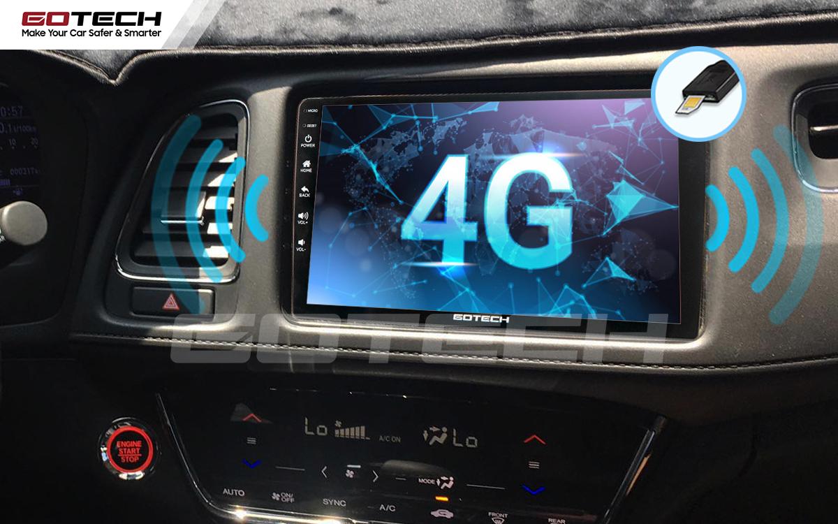 Kết nối internet trên màn hình ô tô thông minh GOTECH cho xe Honda HRV
