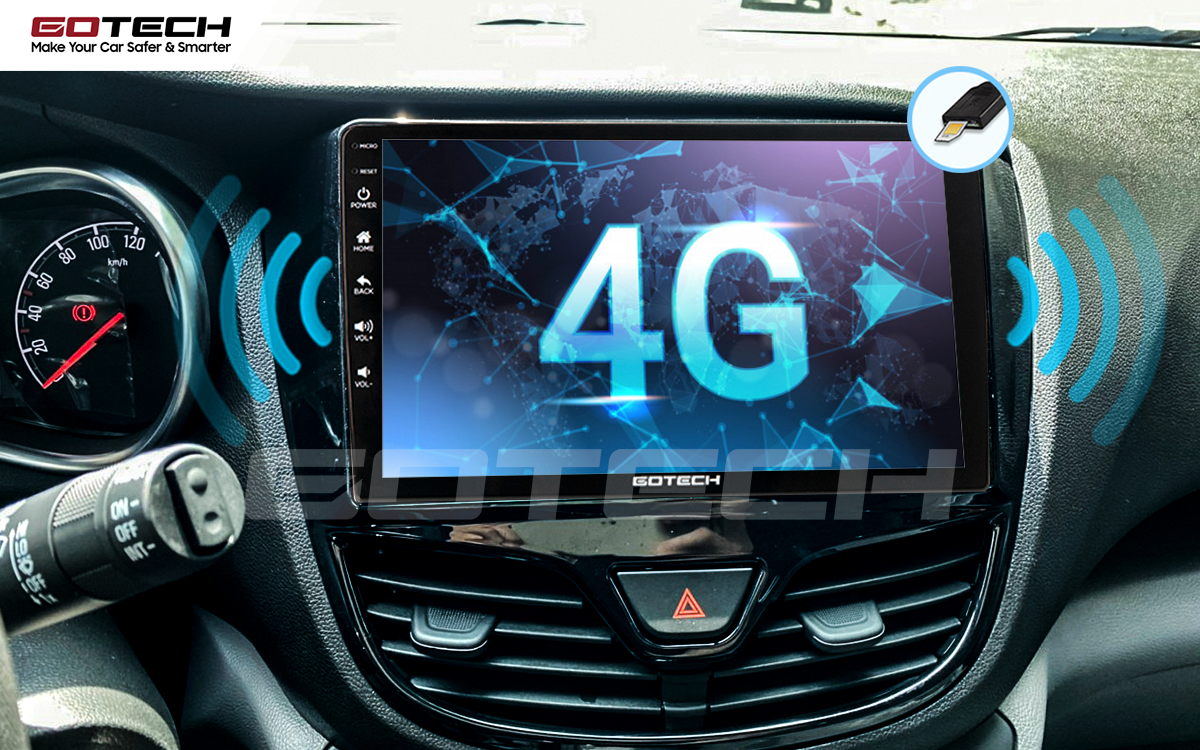 Kết nối internet 4G tốc độ cao trên màn hình GOTECH cho xe Vinfast Fadil