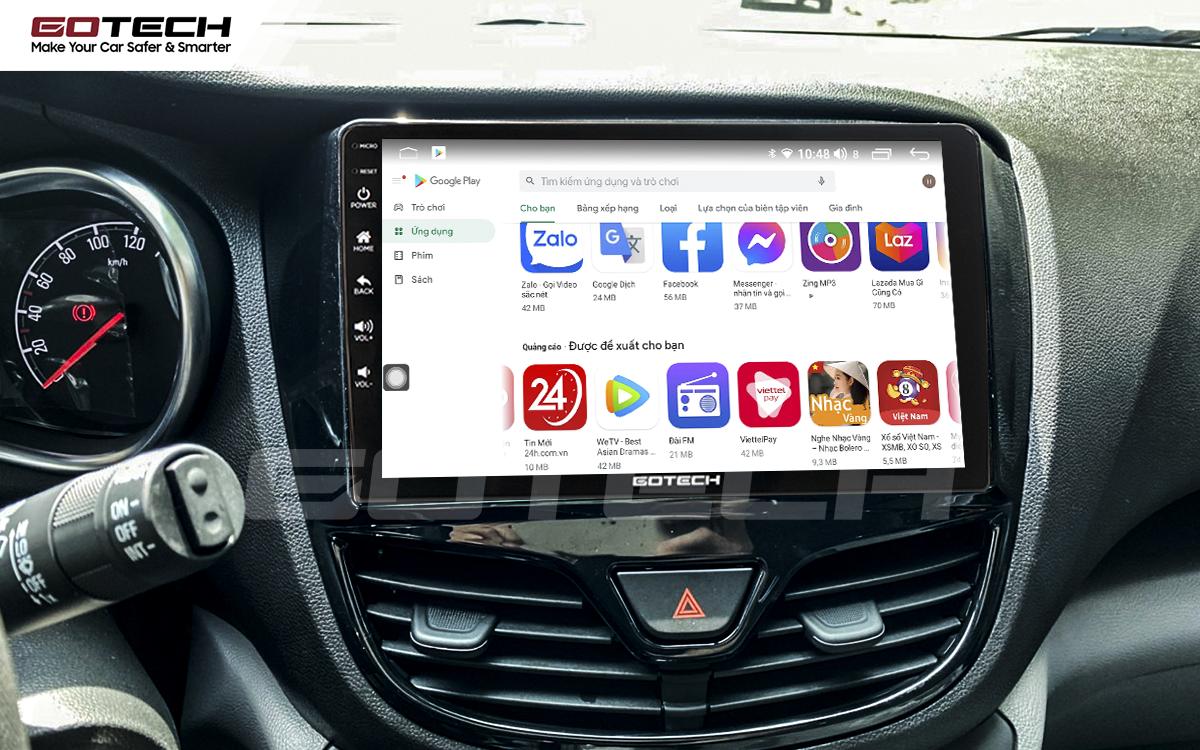 Kho ứng dụng CH Play khổng lồ trên màn hình Android GOTECH cho xe Vinfast Fadil
