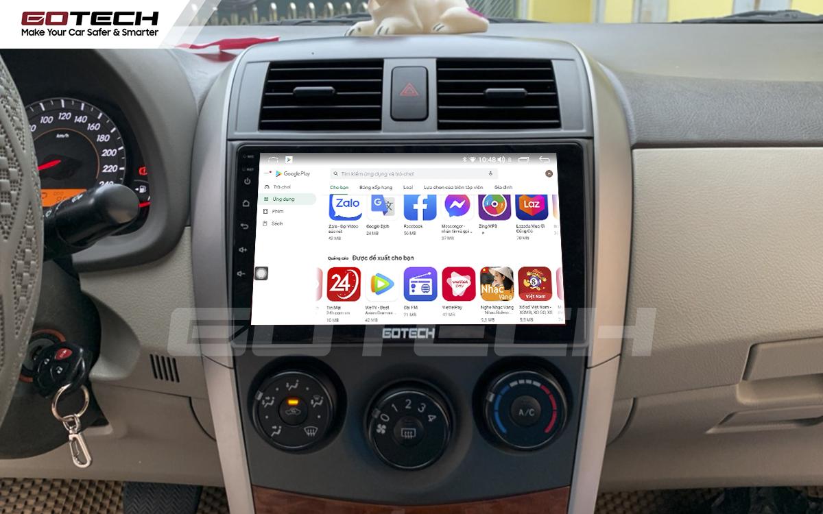 Kho ứng dụng khổng lồ CH Play trên màn hình DVD Android GOTECH cho xe Toyota Altis
