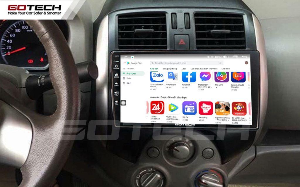 màn hình android 9 inch cho xe nissan sunny 2014-2018