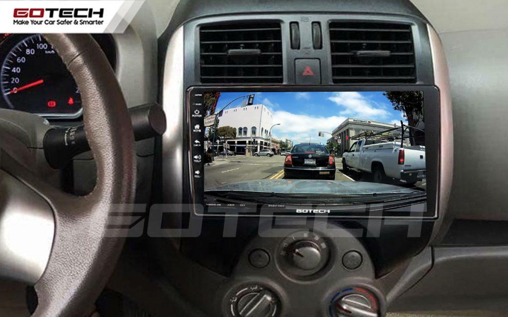 màn hình android gotech cho xe nissan sunny 2014-2018