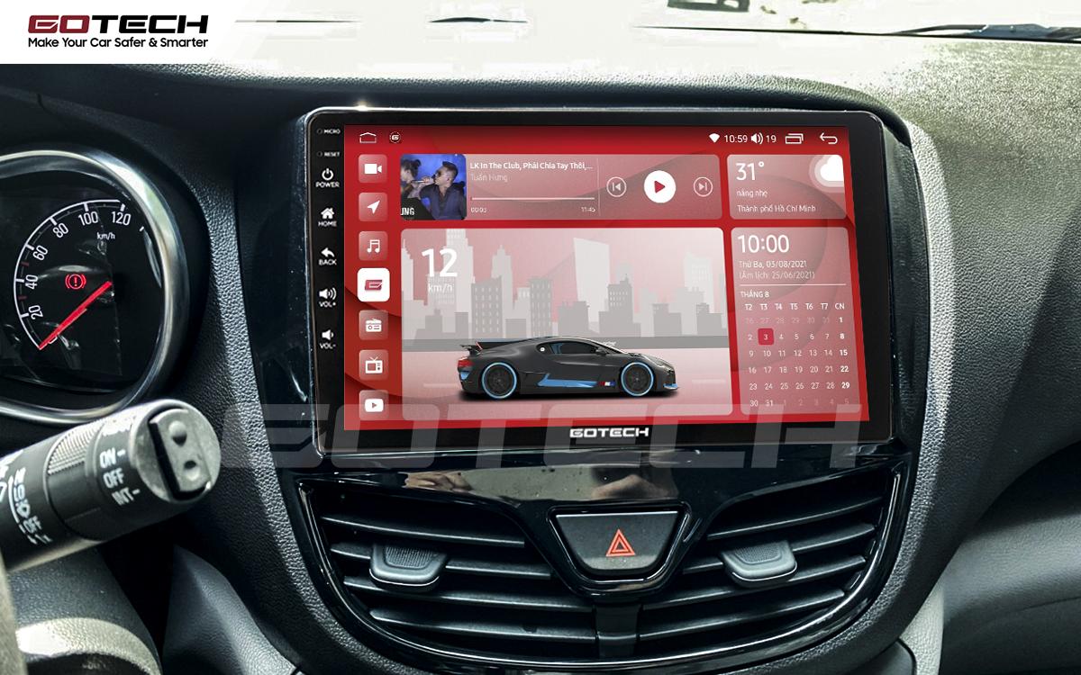 Màn hình DVD Android GOTECH với kích thước lớn hỗ trợ quan sát và thao tác đơn giản