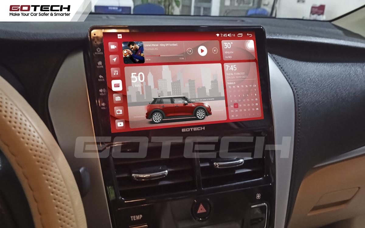 Màn hình GOTECH cho xe Vios G 2019 - 2020 giao diện nổi bật, sang trọng