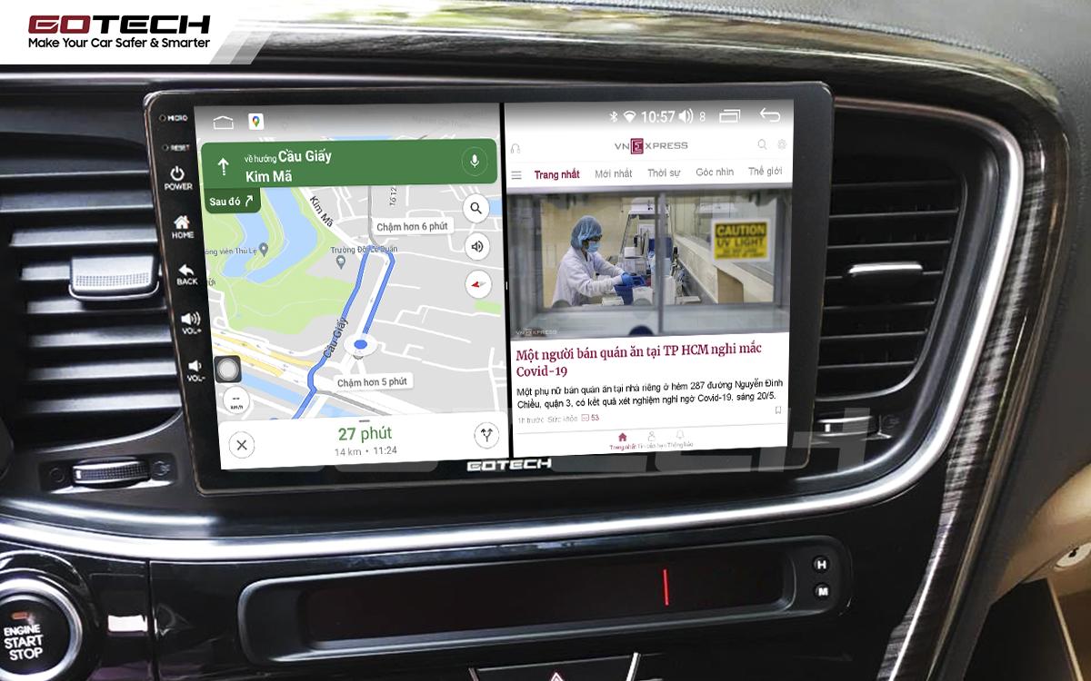 Chạy đa nhiệm ứng dụng mượt mà trên màn hình ô tô thông minh GOTECH