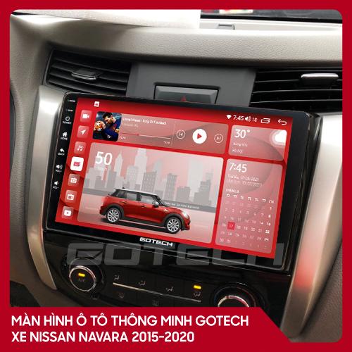 Màn hình ô tô GOTECH cho xe Nissan Navara 2015-2020