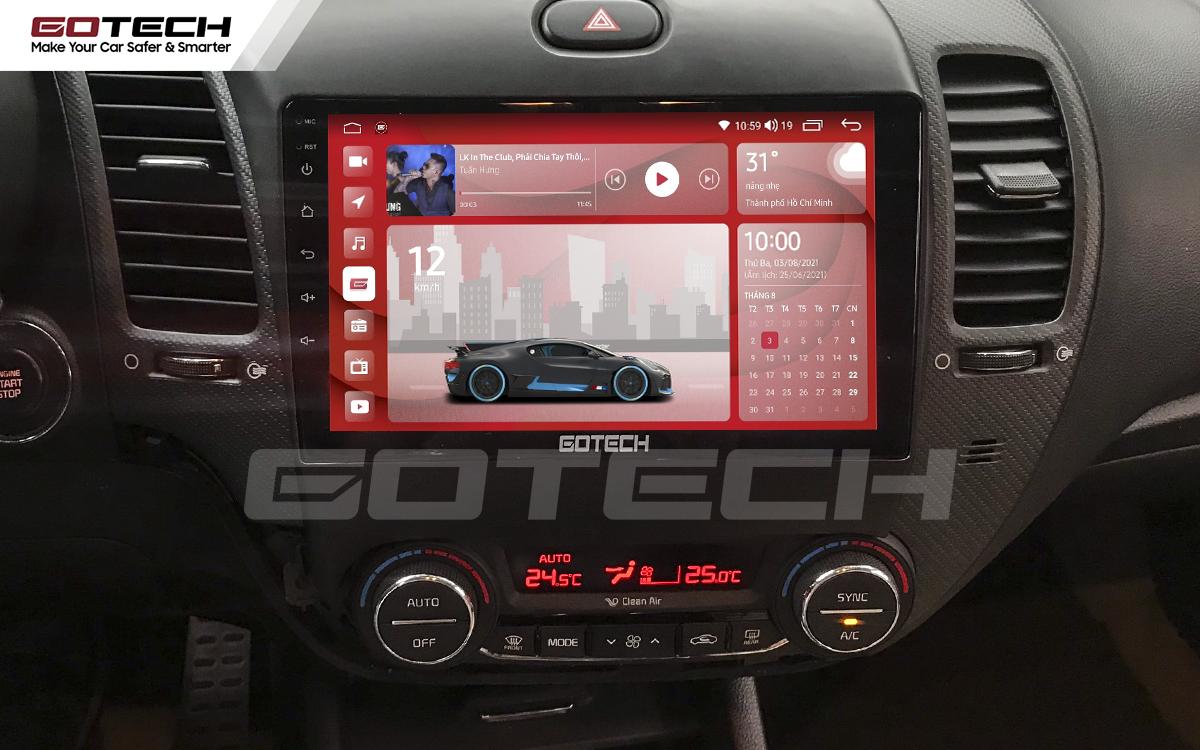 Màn hình ô tô thông minh GOTECH kích thước lớn 9inch độ phân giải 1280x720