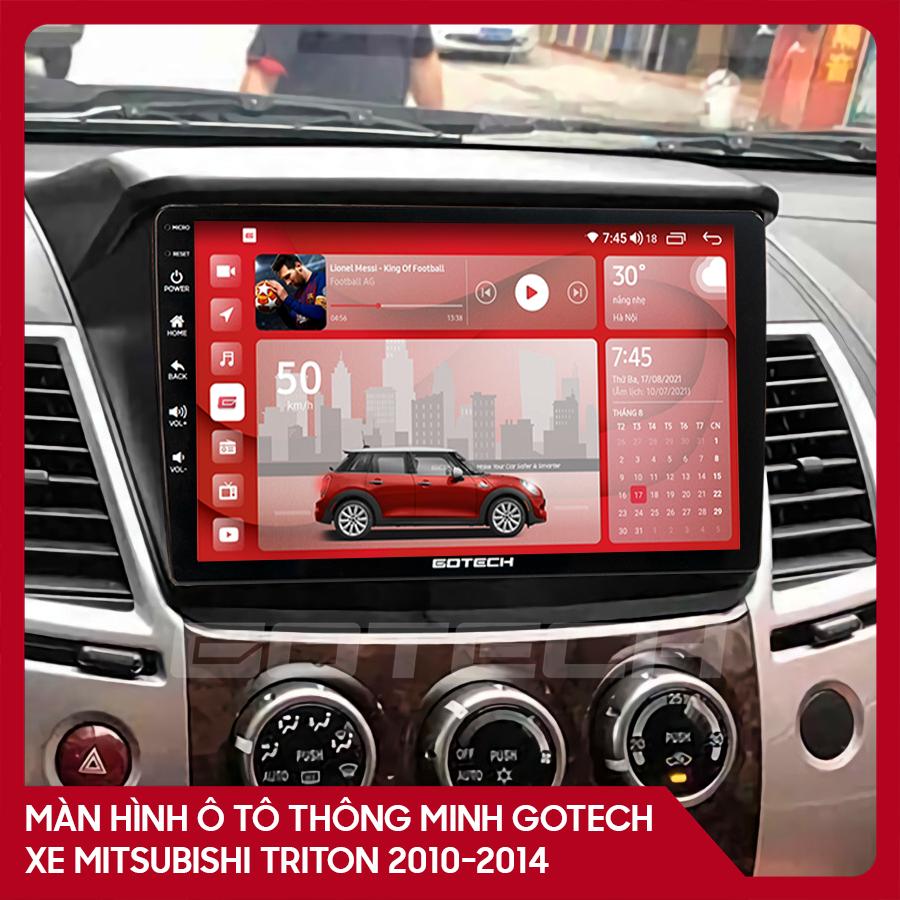 Màn hình ô tô GOTECH cho xe Mitsubishi Triton 2010-2014
