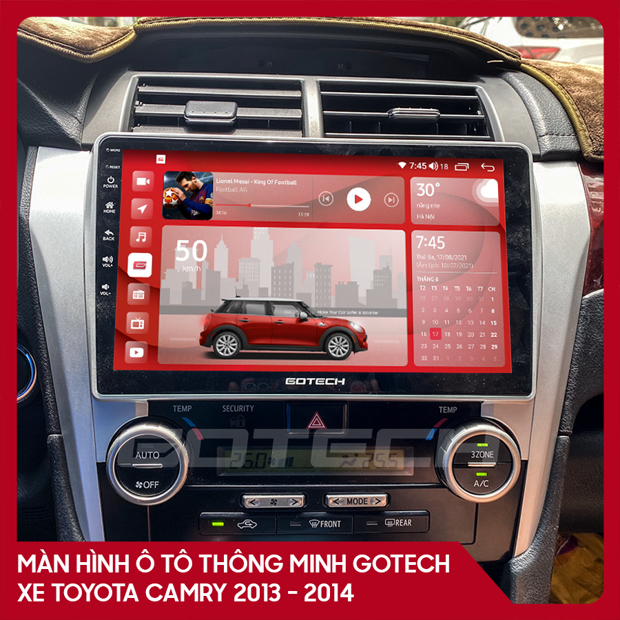 Màn hình ô tô GOTECH cho xe Toyota Camry 2013-2014