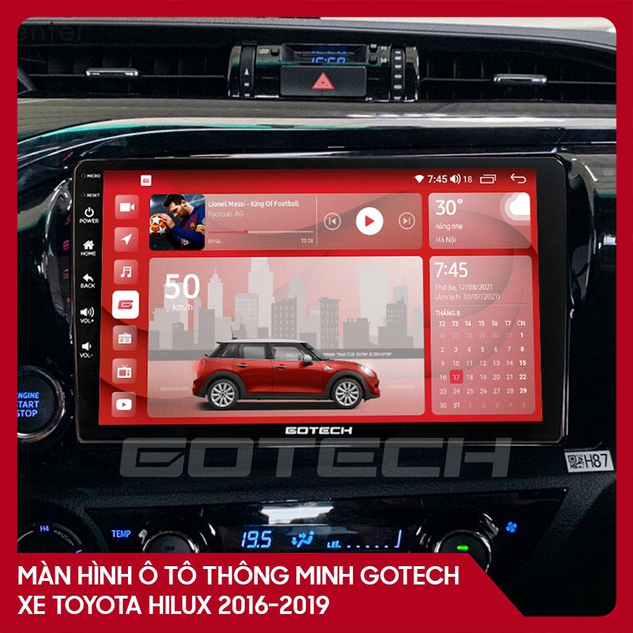 Màn hình ô tô GOTECH cho xe Toyota Hilux 2016-2019