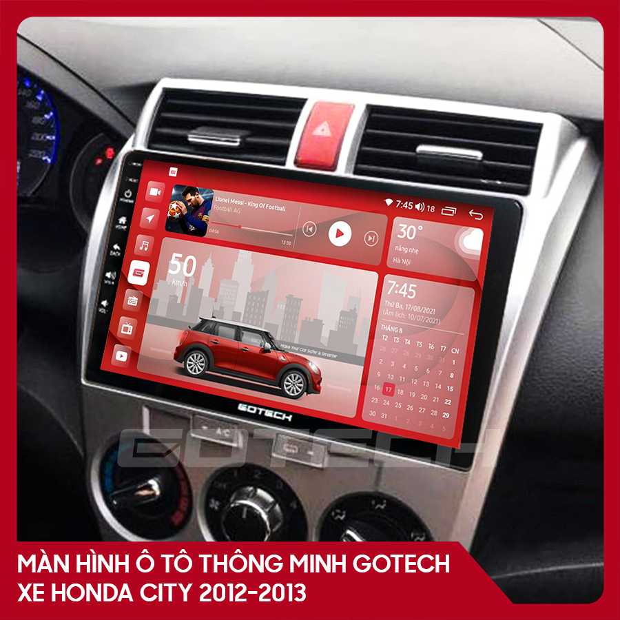 Màn hình ô tô GOTECH cho xe Honda City 2012 - 2013
