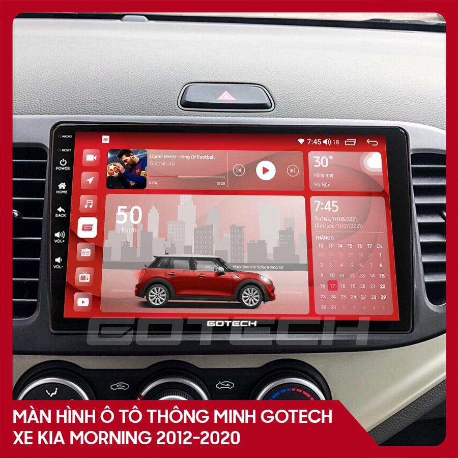 Màn hình ô tô GOTECH cho xe Kia Morning 2012 - 2020
