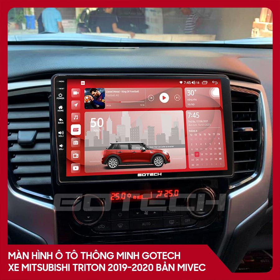 Màn hình ô tô GOTECH cho xe Mitsubishi Triton 2019-2020