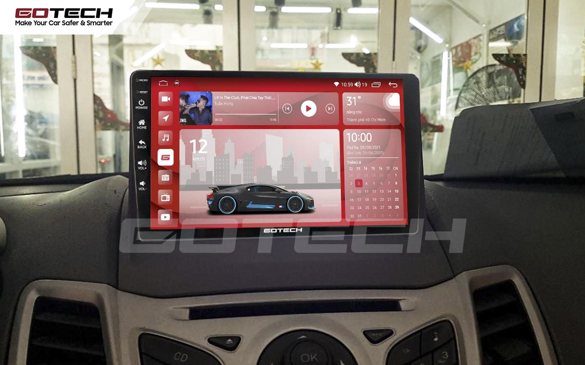 Màn hình rộng 9 inch cho xe Ford Fiesta 2011-2018