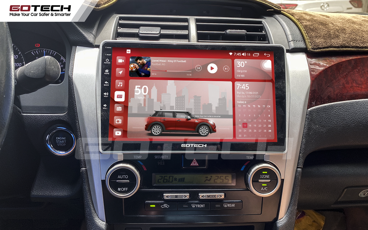 Màn hình rộng 10 inch cho xe Toyota Camry 2013-2014