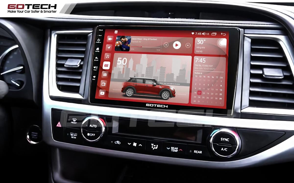 Màn hình rộng 10 inch cho xe Toyota Highlander 2015-2018