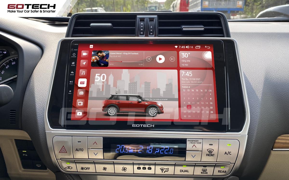 Màn hình rộng 10 inch cho xe Toyota Prado 2017-2020
