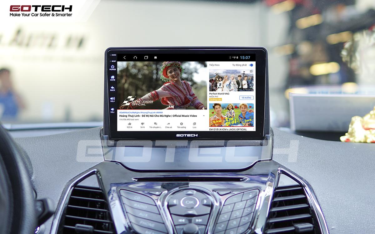 Nghe nhạc, xem phim, giải trí vô tận trên màn hình GOTECH cho xe Ford Ecosport 2014-2017